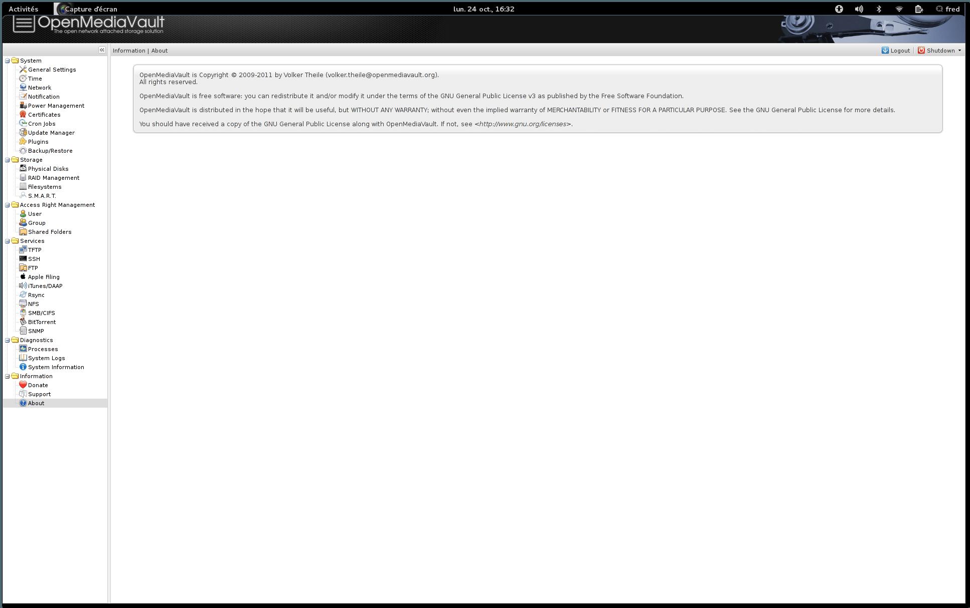 Découverte d'OpenMediaVault